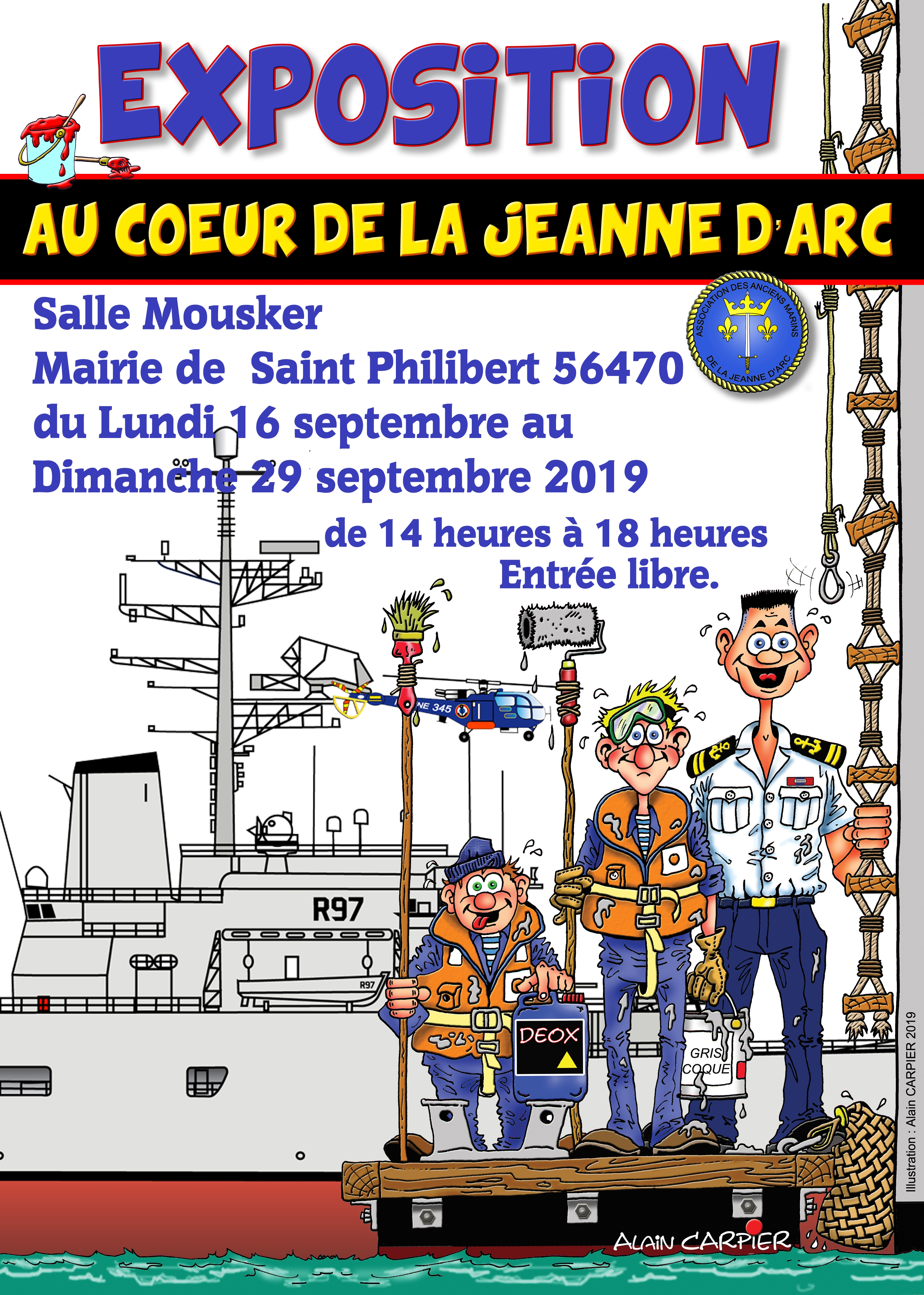Affiche EXPO Saint Philibert 2019 1